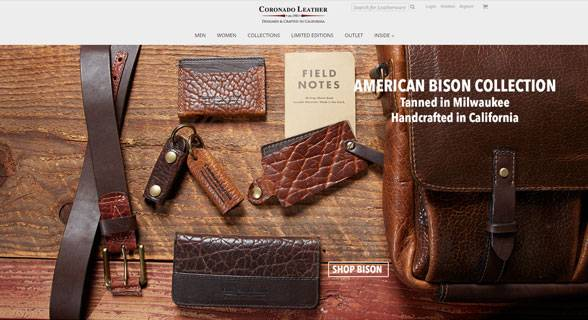 Web Design Project - Coronado Leather