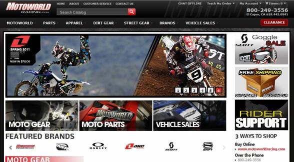 San Diego Website Design - project MotoWorld