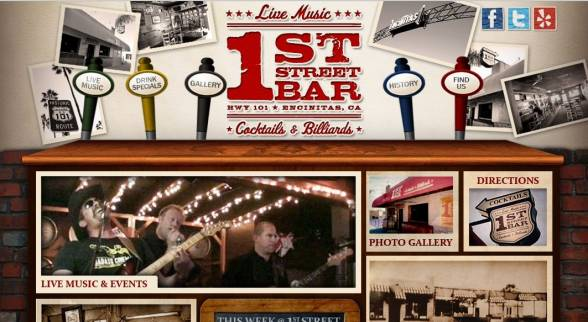 1st Street Bar  Nightlife Web Design