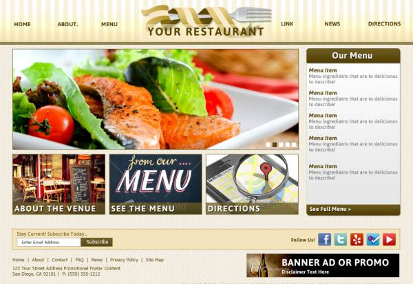 Standard Content Theme - Restaurant Light